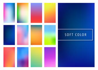 Soft color gradients background
