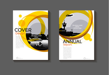 abstract Yellow  cover design modern book cover abstract Brochure cover  template,annual report, magazine and flyer layout Vector a4
