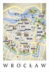 Plan miasta, mapa, makieta Wrocław - Polska