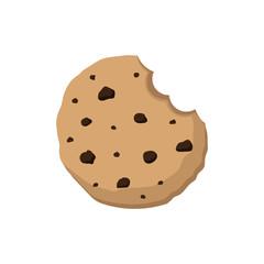 Cookie. Bite. Vector. Illustration.
