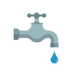 Water tap. Vector illustration. Isolated.