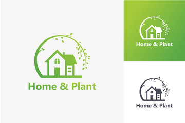 Home and Plant  Logo Template Design