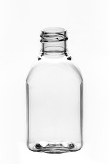 empty bottle cosmetic packaging on a white background