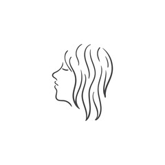 beauty hair girl vector illustration
