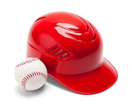 Baseball Helmet and Ball