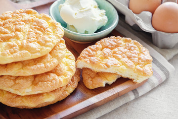 Cloud bread, Oopsie bread , Keto, ketogenic diet, paleo, low carb high fat