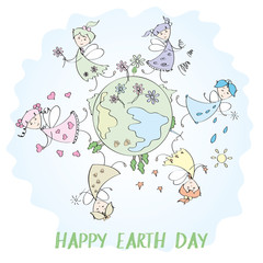 Fairies and planet earth, earth day
