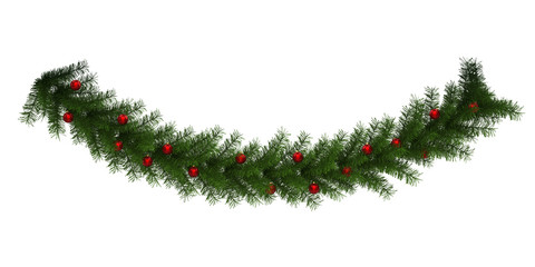 Christmas Garland Decoration Isolated