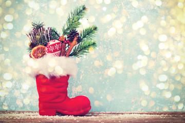 gefüllter Nikolausstiefel