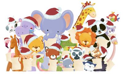 animales cantando en navidad
