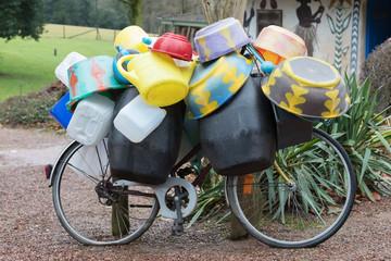 Transportation of empty barrels in Africa