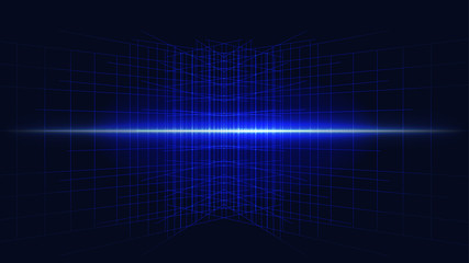 blue complex major cyber computer technology abstract background