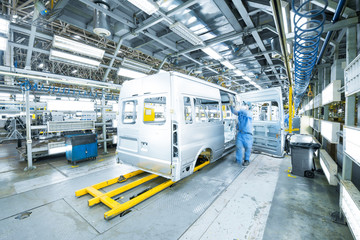 modern automated assembly line for cars