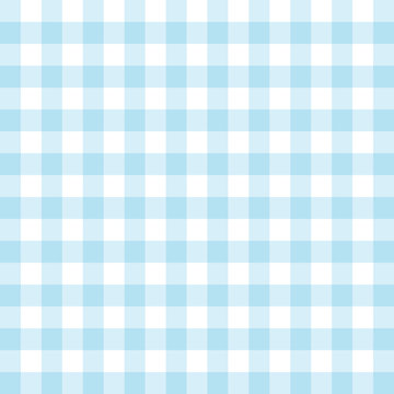 Background seamless pattern gingham tablecloth in blue