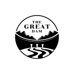 great dam logo with mountain