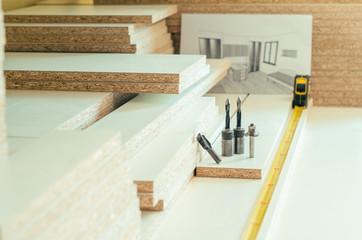 board chipboard cut parts