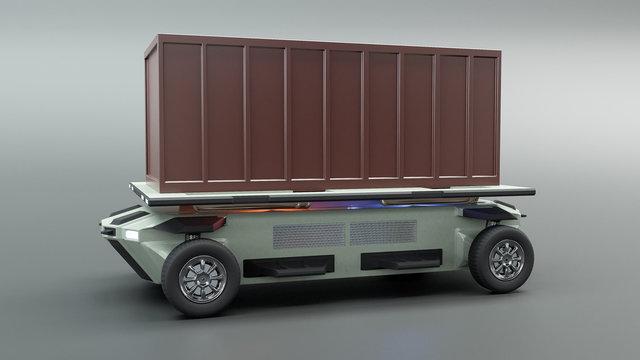 autonomous vehicle truck 3d illustration