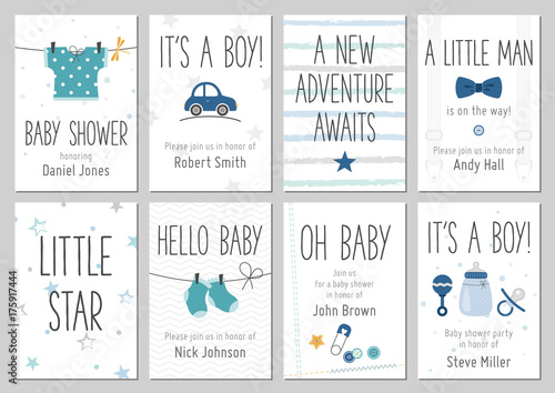 Baby Shower Invitations Baby Boy Arrival And Shower Cards