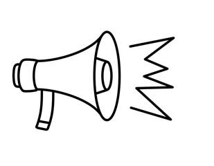 拡声器(線画、声)