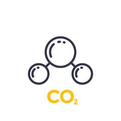 co2 molecule line icon