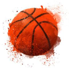 abstract basketball. Vector illustration