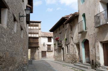 Medieval village of Mirambel in the Maestrazgo, Teruel, Spain