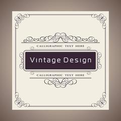Vector Creative Card Template Design, Luxury Vintage and Retro Invite