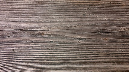 Photo of an old weathered surface of wood board.