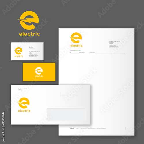 E logo and identity electric logo yellow logo on business card e logo and identity electric logo yellow logo on business card letter colourmoves