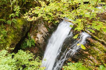 Cascada en el Río Alba. Ruta del Alba. Parque Natural de Redes, Asturias, España.