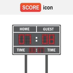 Scoreboard football american. American football vector scoreboard. Sport football, scoreboard american game