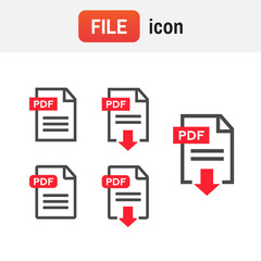 download icon pdf. Document text, symbol web format information