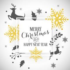 Christmas, Glitter, Ornaments, Gold, Banner