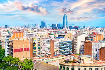 Cityscape in Barcelona, Catalonia Spain