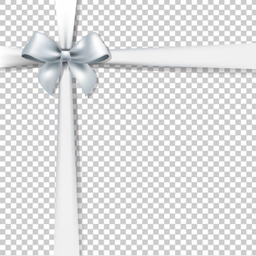 White Bow And Transparent Background