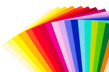 Sheets of colored paper. Colorful background. Back to school.