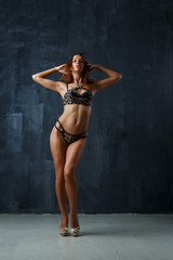 Photo of young model in lingerie