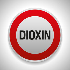 Warning sign, stop dioxin, vector danger icon