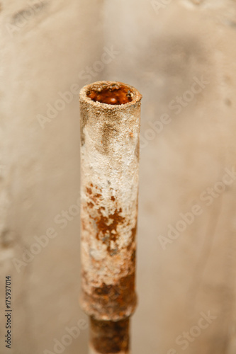 rusty water pipe after thirty years of operation  Corrosion