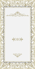 Luxury set of flyers, business cards, invitations. Decorated with exquisite Asian, Oriental motifs. Gold color on a white background.