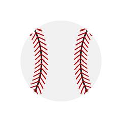 Baseball icon. Baseball ball flat icon