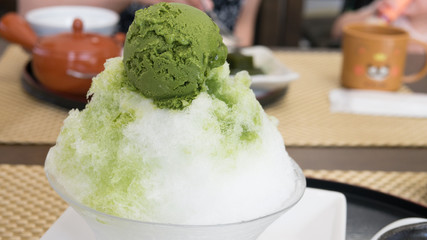 Japan Summer desserts-shaved ice