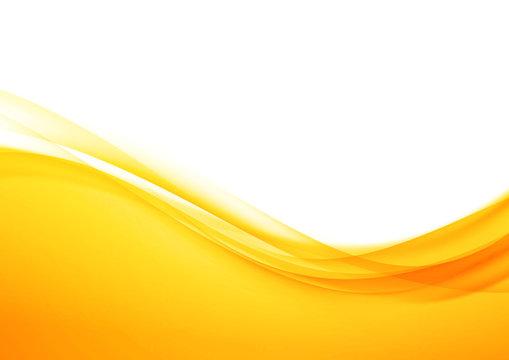 Bright orange abstract modern swoosh elegant soft wave background