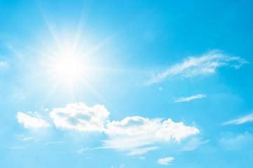 Sun and cloudy sky