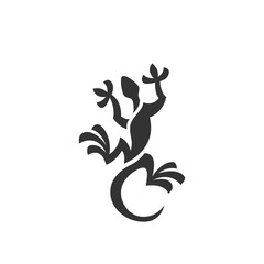 Lizard icon. Vector logo on white background