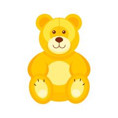 Pretty teddy bear. Kids toys vector illustration