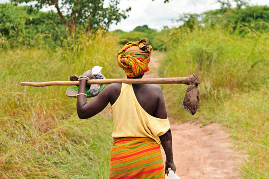 African farmer woman