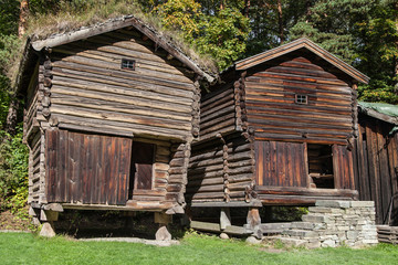 Old Pillared Storehouses from Osterdal
