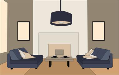 living room, sofas