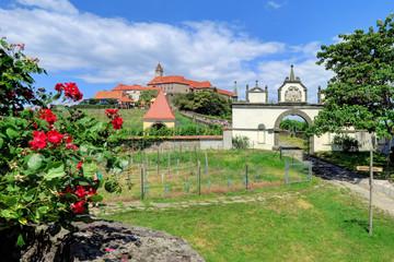 RIEGERSBURG, AUSTRIA 26 June 2017- Riegersburg Castle and museum above the town of Riegersburg in Styria, Austria